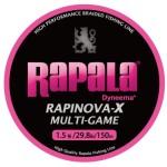 高性能PEラインの定番に新色登場!Rapala(ラパラ) ラピノヴァX マルチゲーム ピンク 150m 1.5号