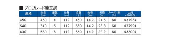 PRO BLADE 磯玉網 540