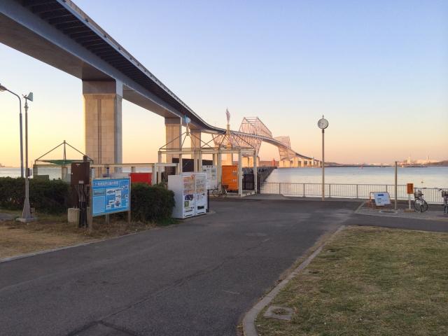若洲海浜公園 釣り堤防入り口