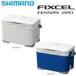 使いやすさ抜群!色々な釣りに対応できる人気のクーラーボックス。シマノ(SHIMANO) フィクセル ベイシス 220