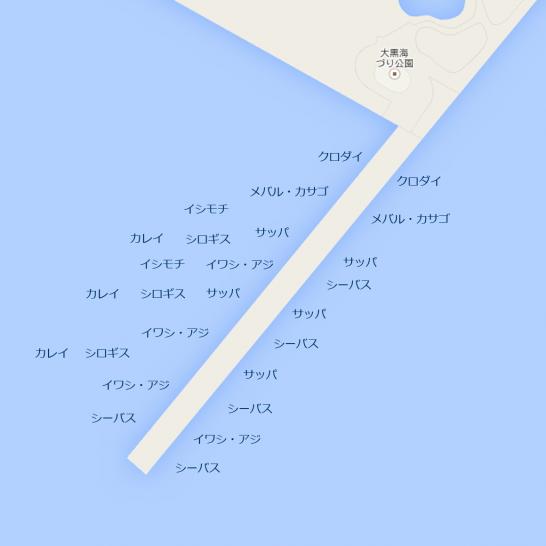 釣りマップ_大黒海づり施設