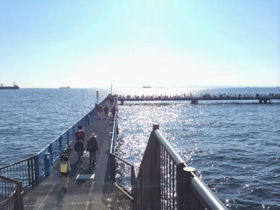 本牧海づり施設 渡り桟橋