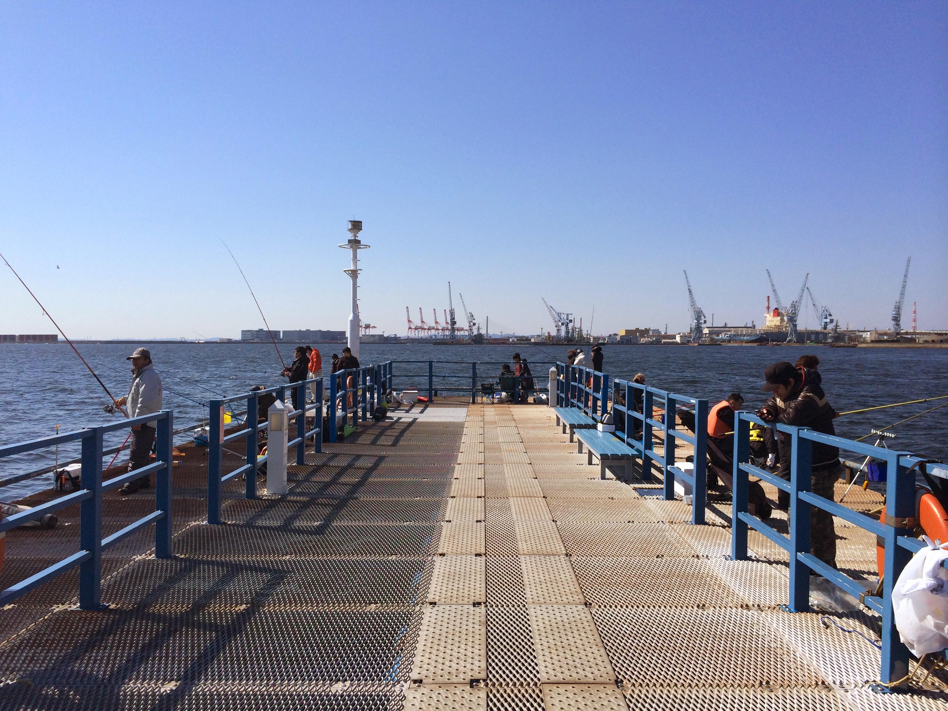 本牧海づり施設 沖桟橋先端