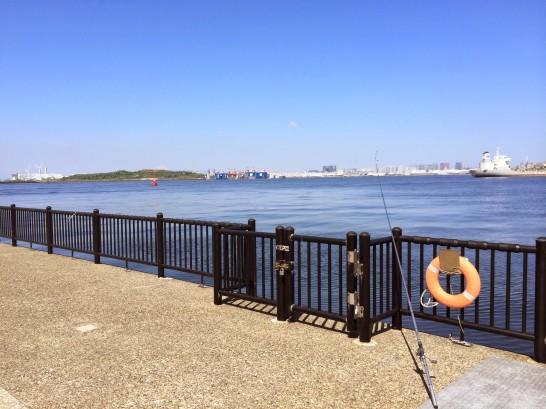 若洲海浜公園 先端付近手前