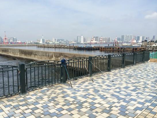 青海南ふ頭公園 右側付近