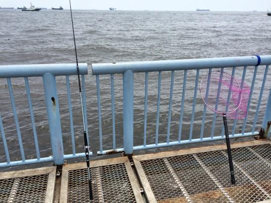大黒海づり施設 桟橋外側手前付近
