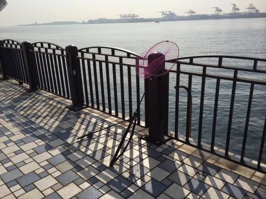 青海南ふ頭公園 左端手前付近