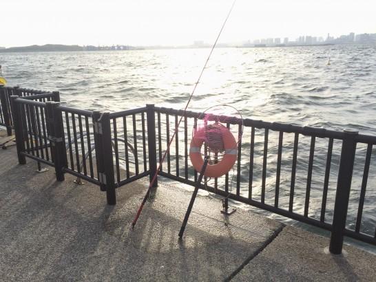 若洲海浜公園 堤防中央付近