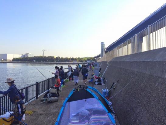 若洲海浜公園 ゴールデンウィークの海釣り施設