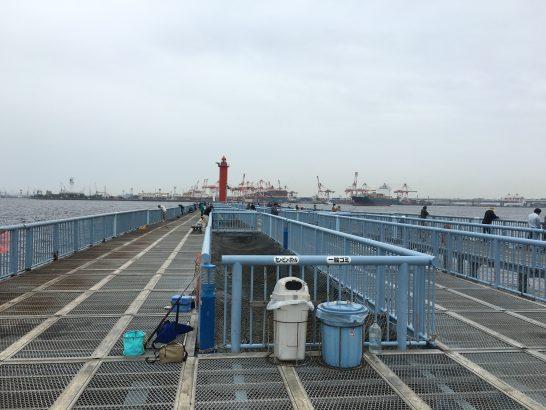 大黒海づり施設 桟橋手前付近
