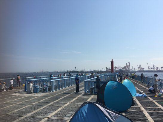 大黒海づり施設 桟橋手前