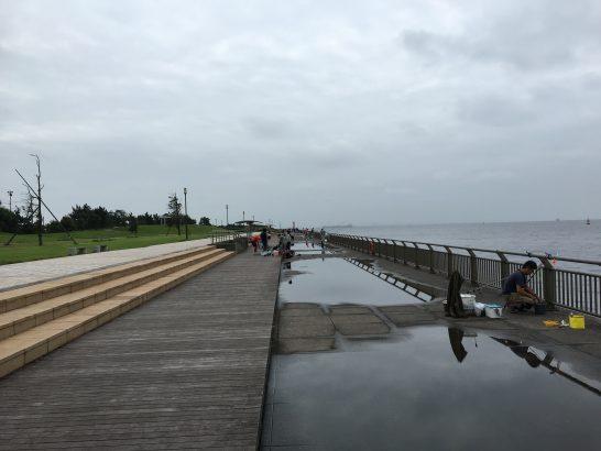 東扇島西公園 入口付近