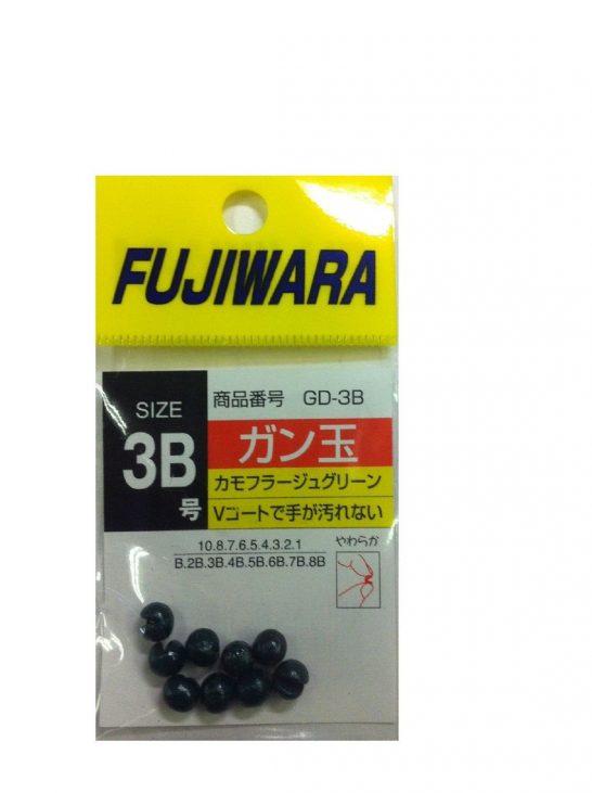 ガン玉 カモフラージュグリーン 3B フジワラ(FUJIWARA)