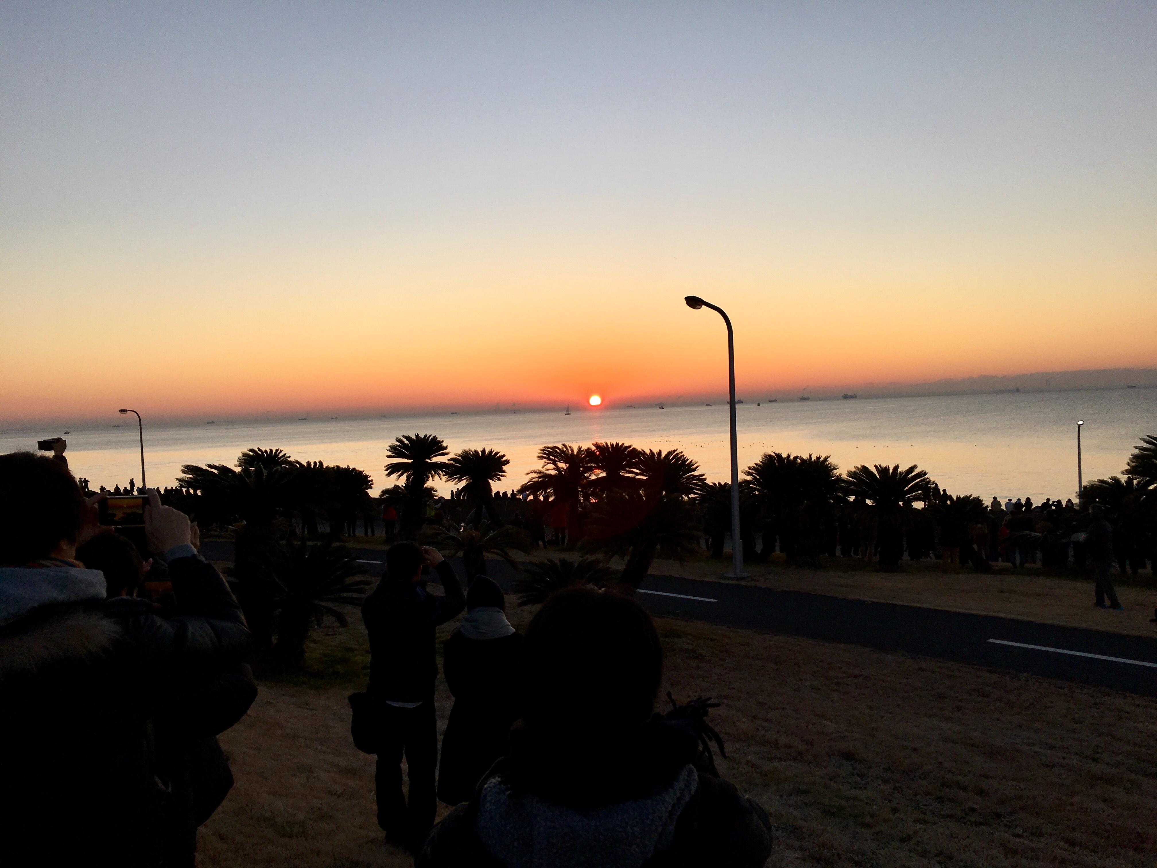 若洲海浜公園 初日の出